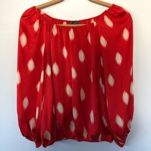 XS Vince Camuto Silk Off-the-Shoulder Top
